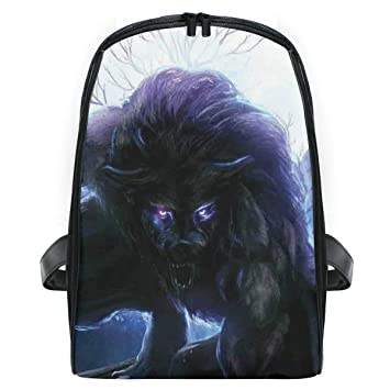 979d325e1fc4 Amazon.com | CHASOEA Children's School Bag Surreal Werewolf With ...