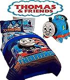 HIT Thomas The Train TANK Engine ''TECH'' 5pc TWIN/FULL COMFORTER( 71'' x 86') + TWIN Sheet Set + THOMAS PILLOW PAL!