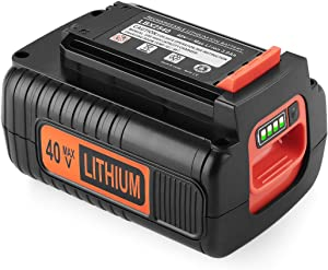 Yabelle Upgraded 3000mAh Black and Decker 40V Lithium Battery Replacement for Black and Decker 40V Battery LBX2040 LBXR36 LBXR2036 LST540 LCS1240 LBX1540 LST136W 40 Volt Black and Decker Battery