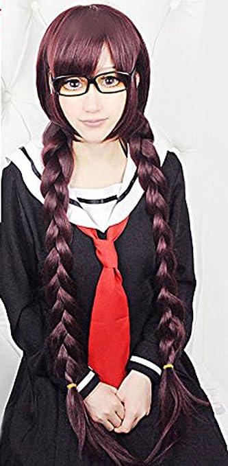 Dangan-ronpa Fukawa Touko Cosplay Wig Hair Cap