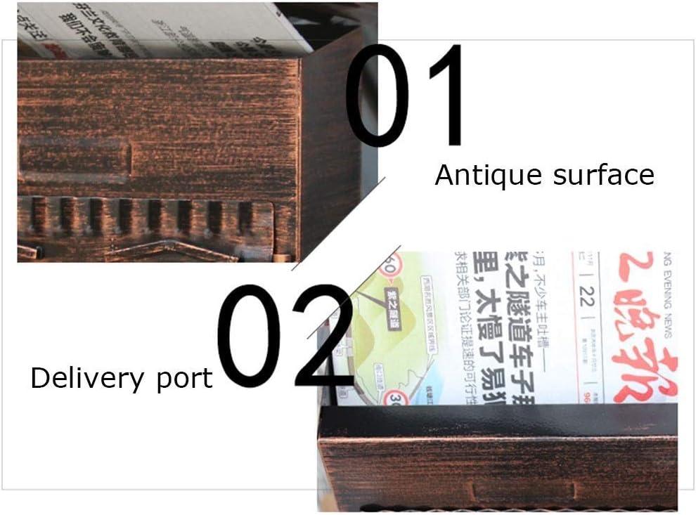 Bronzo JINDEN Cassetta Postale Europea Stile Esterno Parete Montaggio a Muro Cassetta Postale Cassetta Postale sicura Cassetta Postale allaperto Retro Vintage Mailboxes