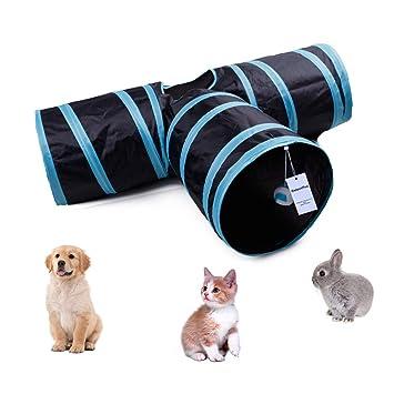 CooleedTEK - Túnel de juguete para gatos, plegable, túnel de 3 vías, juguete