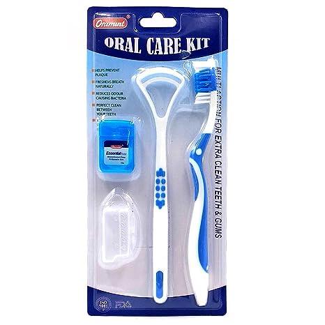 Koreatrends Cuidado oral kit de higiene dental - cubre cepillos de dientes, limpiador de lengua