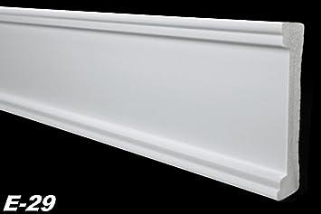 2 Meter Flachprofile Bordüre Wand Deckenleiste Styropor XPS stabil 20x80mm E-30