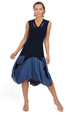 de373a96c8a9 Joseph Ribkoff Women s Dress Style 192451 (12) Black Blue at Amazon ...
