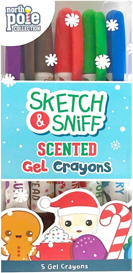 Scentco Holiday Scented Gel Crayons, 5 Count