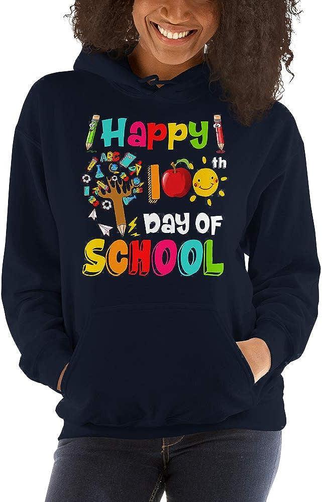 TEEPOMY Happy 100th Day of School Educational Tree Student Teacher Unisex Hoodie