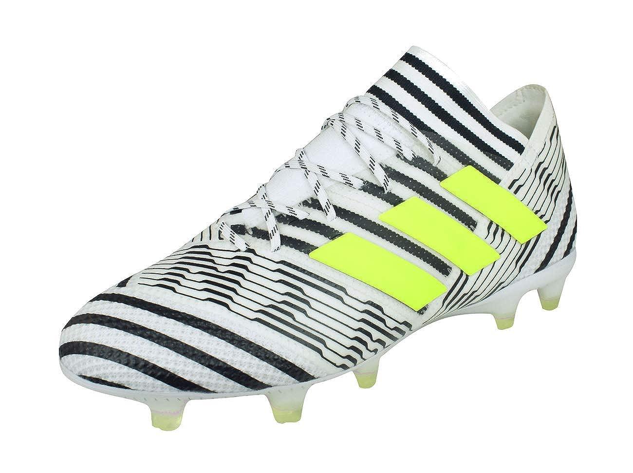 MultiCouleure - Blanc Noir (Ftwbla Amasol Negbas) 44 EU adidas Nemeziz 17.1 FG, Chaussures de Football Homme