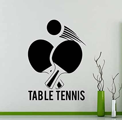 Amazon Com Awesome Decals Table Tennis Logo Wall Vinyl Decal Sports
