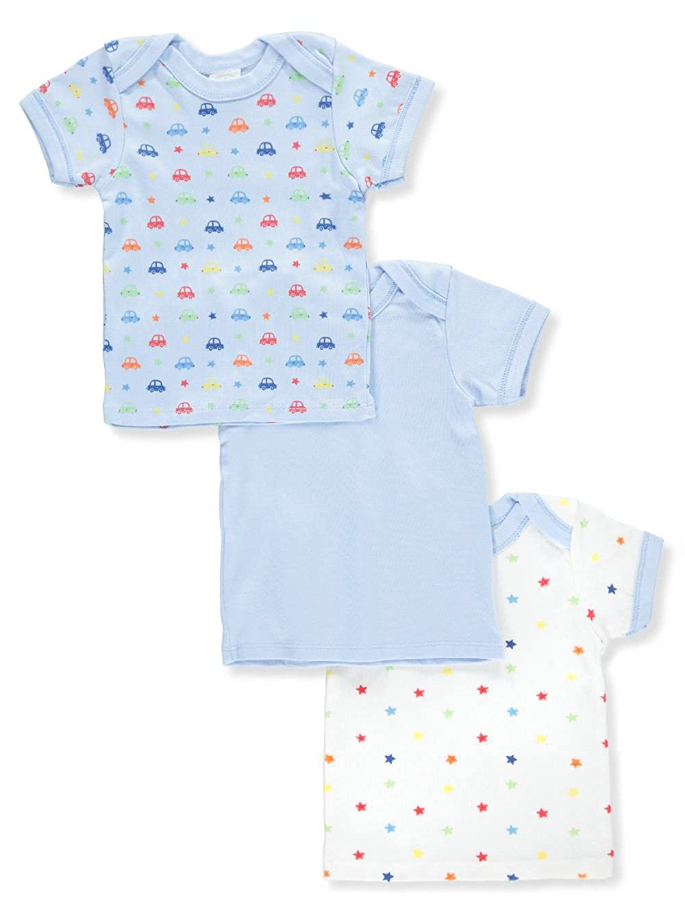 Big Oshi Baby Boys' 3-Pack Lap Shoulder T-Shirts 12-18 Months