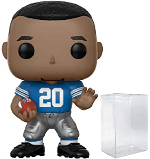 Funko Barry Sanders Lions Home 1 Official NFL Trading Card Bundle Football x NFL Legends Vinyl Figure POP BCC9445H0 20196