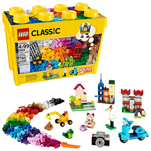 LEGO Classic Large Creative Brick Box 10698 Build Your Own Creative Toys, Kids Building Kit (790 Pieces)]()