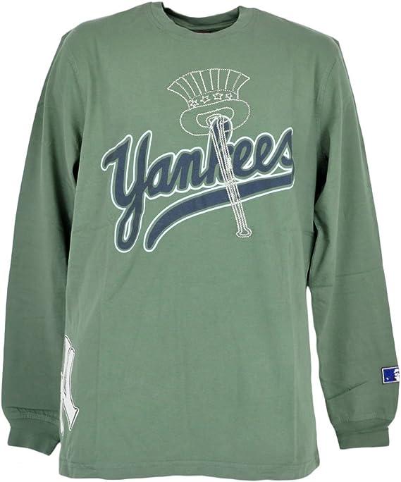 Los New York Yankees beisbol suéter manga larga camisa bordada logotipo pasos: Amazon.es: Deportes y aire libre