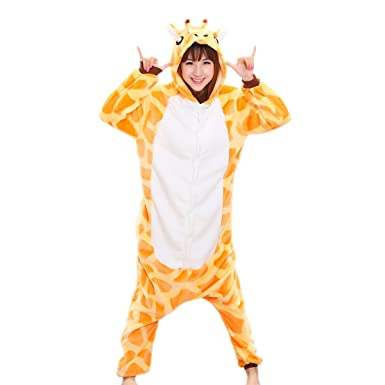 a2745346e721 Amazon.com  Adrinfly One-Piece Hooded Pajamas Unisex Costume Adult ...
