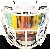PRIZM Football & Lacrosse Eye-Shield Facemask Visor by EliteTek - Fits Youth & Adult Helmets