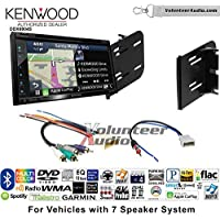 Volunteer Audio Kenwood Excelon DNX694S Double Din Radio Install Kit with GPS Navigation System Android Auto Apple CarPlay Fits 2010-2012 Nissan Cube (7 Speaker Factory Amplified systems)