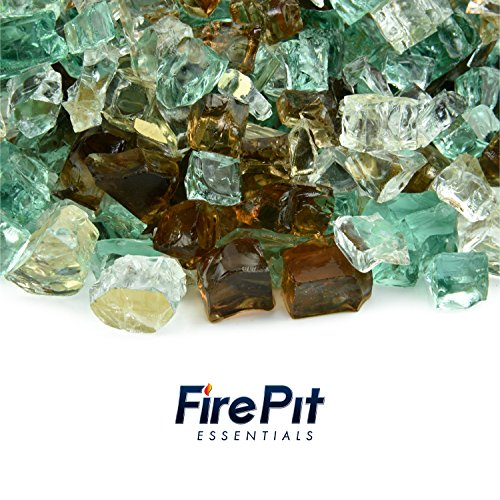 Flame Glass Fireplace (Fire Pit Essentials 10 Pounds Blended Fire Glass for Fireplace Indoor & Outdoor (1/2