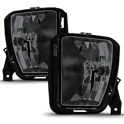 ACANII - For Smoked Lens 2013 2014 2015 2016 2020 2020 Dodge RAM 1500 Fog Lights Lamps Assembly Driver & Passenger Side: Automotive