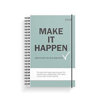 Planificador de vida Make it Happen, A5, organiza con estilo | planificador semanal | Diario | Agenda | Organizador 2019