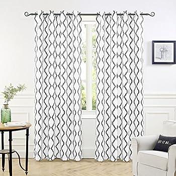 Amazon Com Exclusive Home Kochi Linen Blend Window