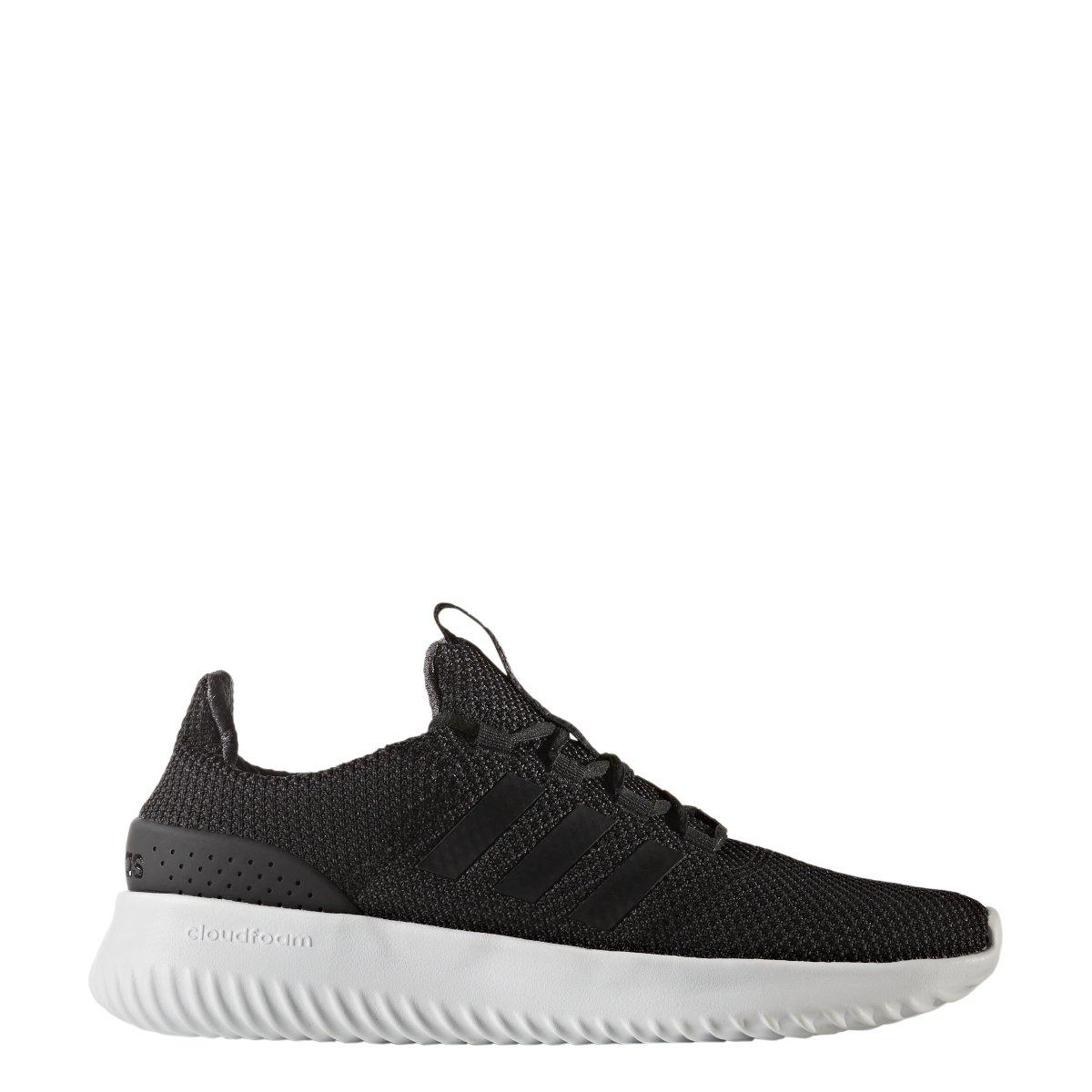 adidas Men's Cloudfoam Ultimate Running Shoe White/Utility Black, 4.5 Medium US
