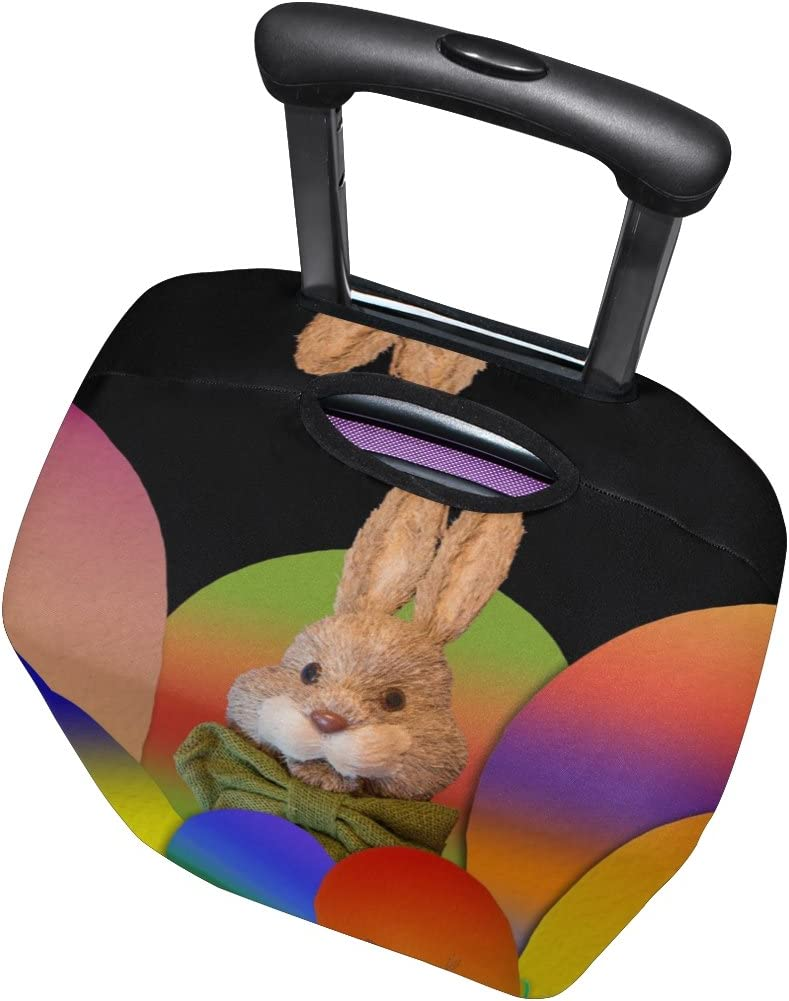 LEISISI Bunny Luggage Cover Elastic Protector Fits XL 29-32 in Suitcase