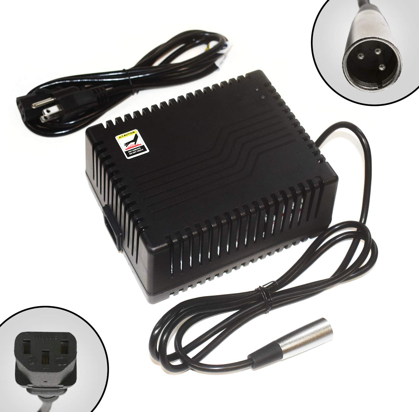 ACI Super Power Battery Charger (5.0A) with XLR Connector for Electric Scooters and Wheelchairs - Fit for Pride Mobility, Jazzy Power Chair, Drive Medical, Golden Technologies, Schwinn, Shoprider by ACI Super Power