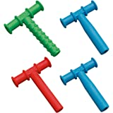 Chewy Tubes Teether Combo, 4 Pack - Green/Red/Blue