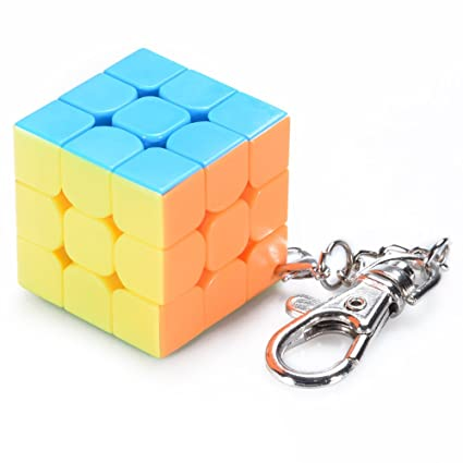 Faironly 3 cm Mini pequeño 3 x 3 Magic Cube Llavero Smart ...