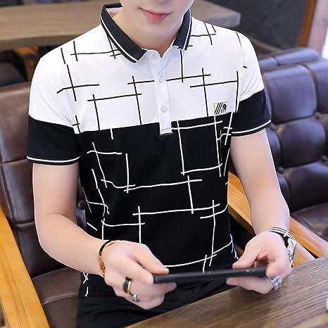 YUFUFU Camiseta Camisas de algodón a Rayas Tops de Manga Corta de Verano Color de Contraste Material Suave Tela: Amazon.es: Deportes y aire libre