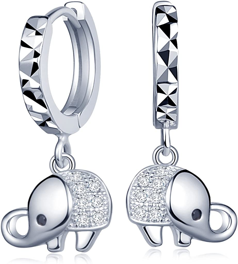 Infinite U Huggie Earrings 925 Sterling Silver Small Hoop for Women Girls