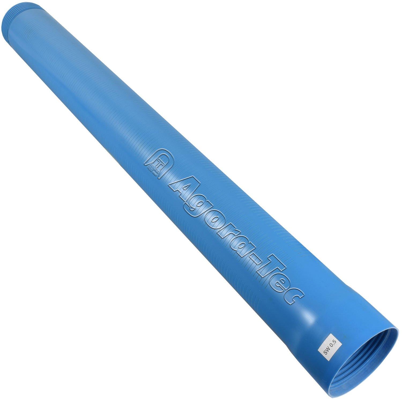 Agora-Tec Brunnenrohr (Filterrohr) 4 Zoll DN 100 blau 1 Meter (Schlitzweite: 0, 5mm) fü r den Bau eines Tiefbrunnen