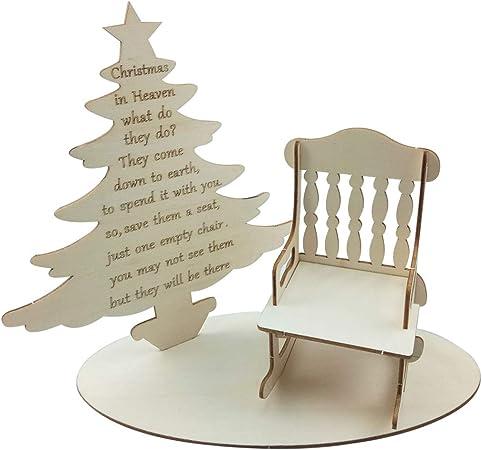 qingqingR Navidad Creativa Adornos de Madera árbol DIY Mecedora decoración de Mesa de Oficina: Amazon.es: Hogar