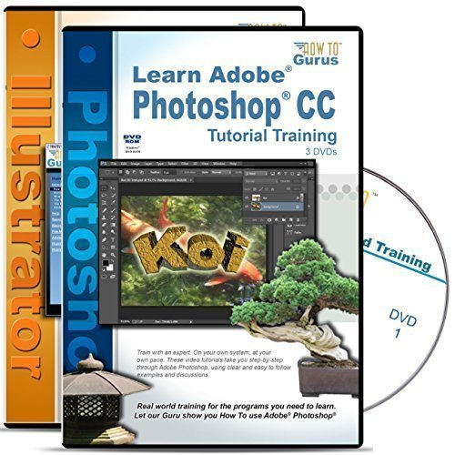 Adobe Photoshop CC Tutorial plus Adobe Illustrator CC Training all on 5 DVDs by How To Gurus