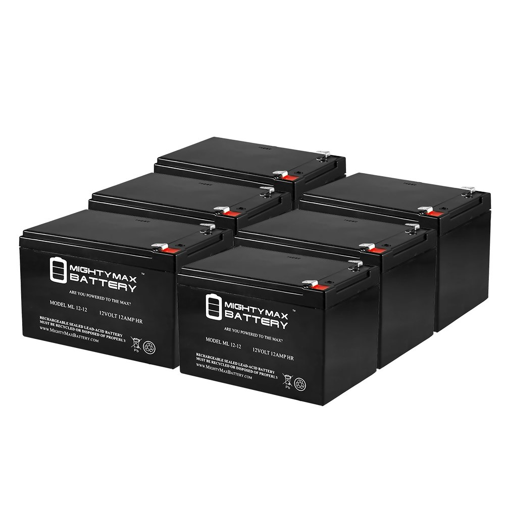 ML12-12 - 12V 12AH F2 X-treme XB-502, XB502 Extreme Electric Moped Battery - 6 Pack - Mighty Max Battery brand product by Mighty Max Battery