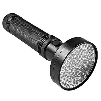Cikuso Linterna UV 100LED Linterna de Mano Ultravioleta, Detector de Orina para Mascotas para Orina