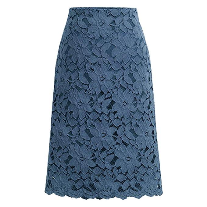 zapatos de temperamento costo moderado mirada detallada Geilisungren Faldas Mujer Cortas Falda de Encaje para Mujer ...
