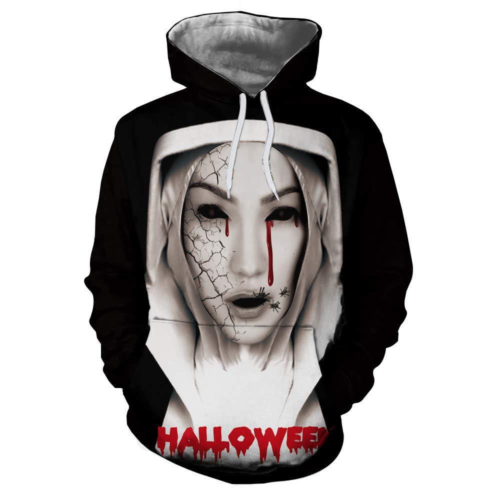 CHAOHAO 3D Kapuzenpullover Kapuzen 3D Pullover Halloween Horror Print Hoodie Männer und Frauen Sport Pullover mit Kapuze Pullover