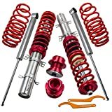 maXpeedingrods Coilovers for VW Golf Jetta Bora MK4 / Audi A3 MK1 / New Beetle 1997-2010 1.4 1.6 1.8T 2.0 - Red