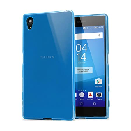 TBOC® Blau Gel TPU Hülle für Sony Xperia Z5 Premium E6853 - Z5 Premium Dual E6833 E6883 Ultradünn Flexibel Silikonhülle