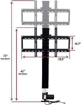ECO-WORTHY Automazioni - Ascensore TV motorizzato verticale per TV ...