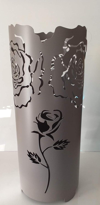 Pagano home portaombrelli porta ombrelli metallico moderno serie Elite rose art 17007 colore grigio altezza 60 cm.