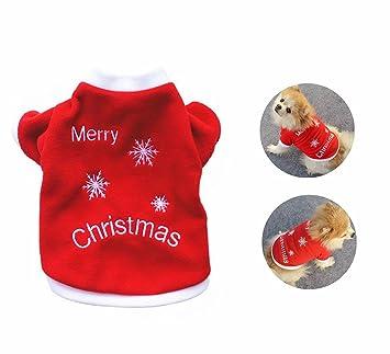 126b8089144e2 LAAT Vêtements de Noël pour Chien Manteau Habit Chiot Vêtements pour Les  Petites et Moyennes Chien