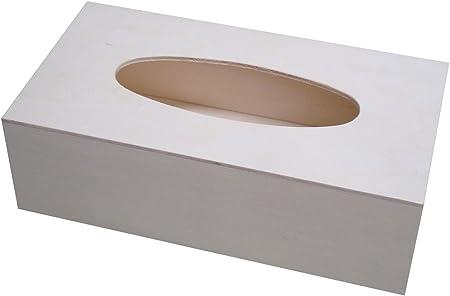 greca Caja para pañuelos de Madera. Madera en Crudo, para Decorar. Medidas (Ancho/Fondo/Alto): 2,5 * 14 * 8 cm.: Amazon.es: Hogar