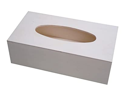 Caja para pañuelos de madera. Madera en crudo, para decorar.