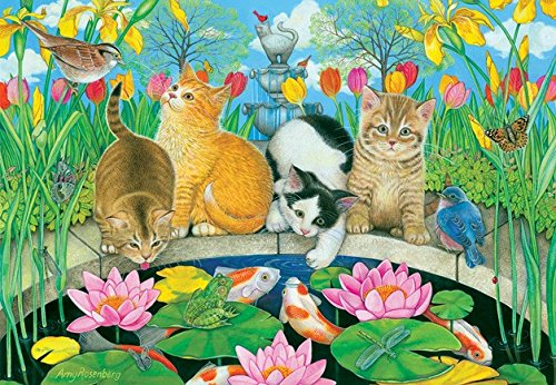 Fish Pond Pals 200 Piece Jigsaw Puzzle by SunsOut -