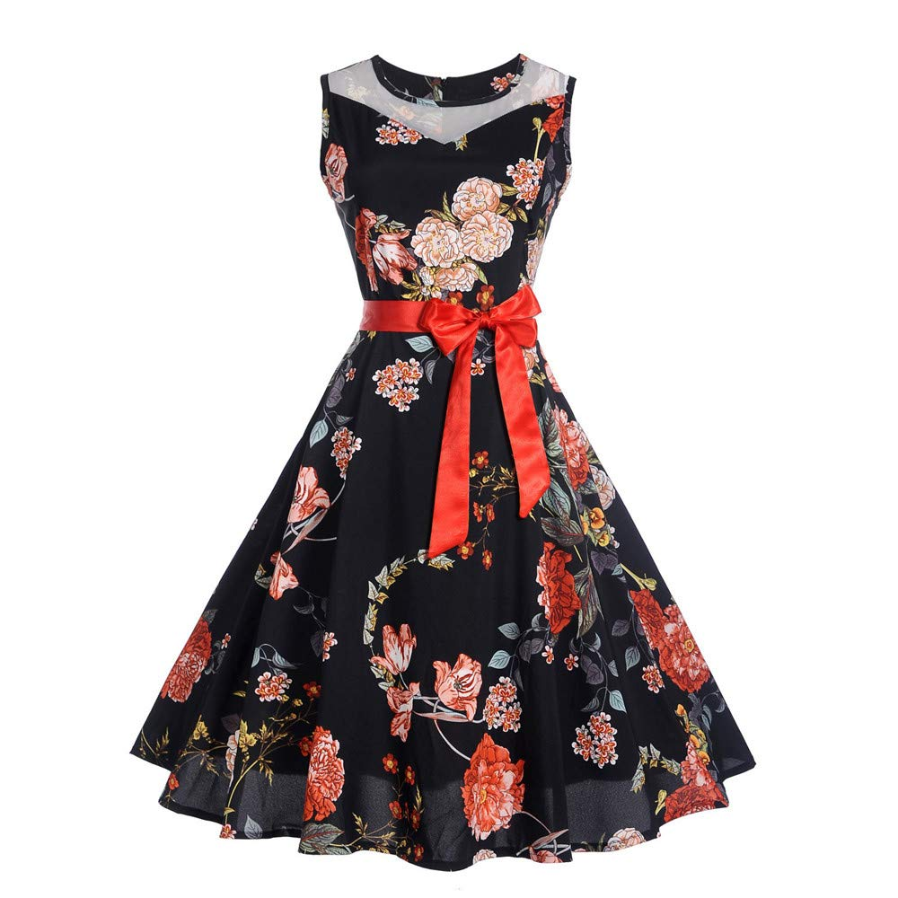 Elegant Casual Summer A Line with Belt Evening Party Prom 2018 Autumn Trendy Vintage