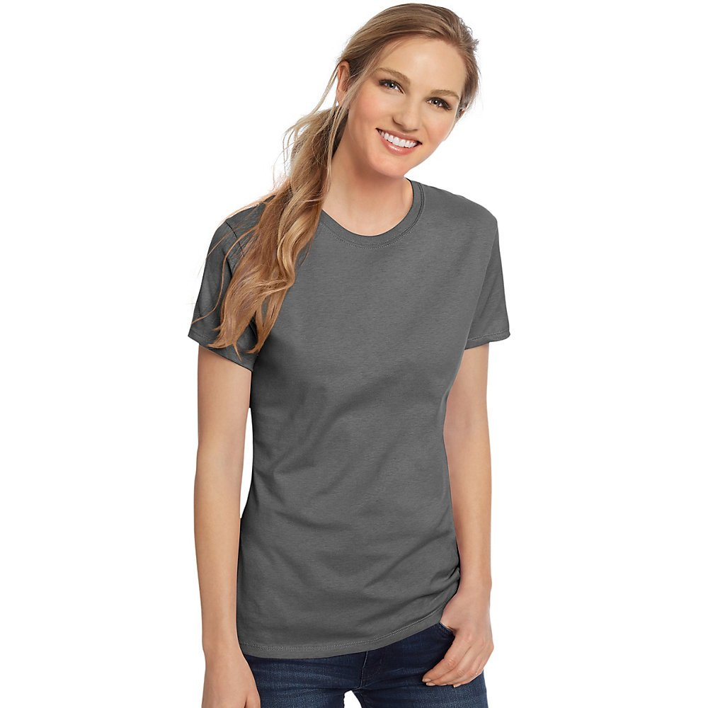 Hanes Classic-Fit Jersey Women's T-Shirt 4.5 oz, M-Graphite