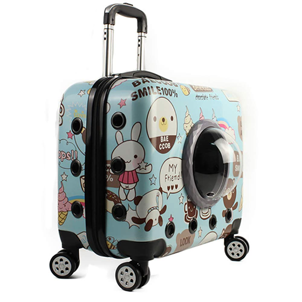 Pet Dog Trolley Bag Rolling, Airline Approved,Hiking & Outdoor Use,Breathable Pet Travel Carrier Pet Carrier, Breathable