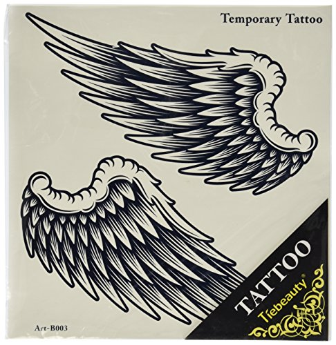 Spestyle new design hot selling fashionable large Angel wings temporary tattoo sticker for women and - Angel Temporary Tattoo